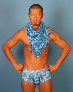 画像1: デジタルスカーフ+デジタル下着 (ブルー) 激安セット